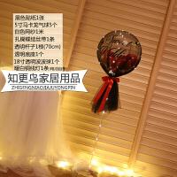 桌飘气球 生日派对装饰气球桌飘结婚房布置商场酒吧活动网红带灯透明波波球L 宝石红/黑纱波波球/带灯