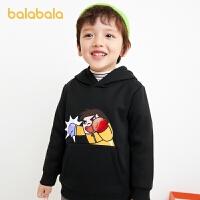 【3件4折:63.6】巴拉巴拉童�b男童�l衣�和�冬�b�����B帽上衣加�q�r尚2020新款小童