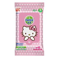 Dettol滴露 卫生湿巾 Hello kitty限定版10片装