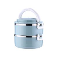 京木 PP+不锈钢饭盒 多层保温饭盒 泡面碗 收纳盒 收纳碗