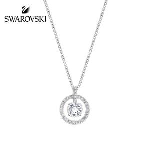 SWAROVSKI/施华洛世奇 LAVENDER圆环四爪链坠白金色项链 1039065