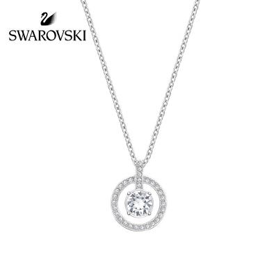 SWAROVSKI/施华洛世奇 LAVENDER圆环四爪链坠白金色项链 1039065正品保障(可使用礼品卡)