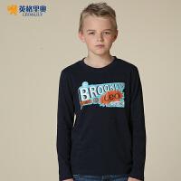 英格里奥男童儿童长袖T恤英格里奥青少年休闲纯棉打底衫3530