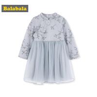 巴拉巴拉童装宝宝汉服女童连衣裙小童秋装2019新款儿童裙子中国风