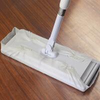 普��(PU RUN) 一次性拖把平板家用免手洗擦地拖地�o�除�m拖把 螺�y式平板拖把吸�m�