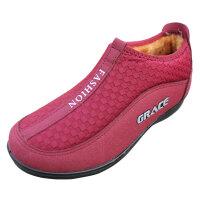 欣清老北京布鞋雪地靴女妈妈鞋 冬季鞋女士低帮户外保暖坡跟短靴