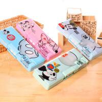 儿童创意多功能带密码文具盒双层塑料大容量铅笔盒 小学生文具用品
