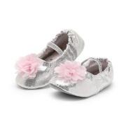 女童跳舞练功猫爪鞋子 银色免系带软底公主鞋 儿童舞蹈鞋形体芭蕾舞鞋