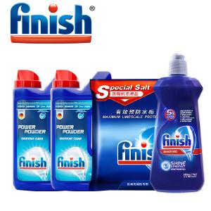 【领券满200减20,1月15日-1月22日】Finish 洗碗机专用洗涤组合(洗碗粉*2+盐+漂洗剂)