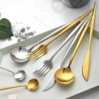 光一ins网红北欧风葡萄牙刀叉勺304不锈钢餐具套餐家用西餐高档牛排刀