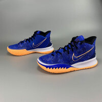 NIKE耐克 KYRIE 7 EP 欧文7代蓝黑男子中帮实战篮球鞋 CQ9327-400