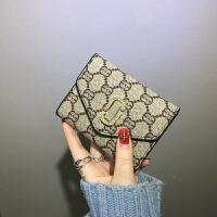 新款小钱包女短款2018新款韩版潮欧美百搭软皮夹薄款钱夹女卡包零钱包 图色 少量现货