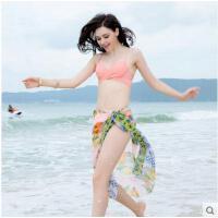 女士性感牡丹花比基尼泳衣  轻薄透气小胸聚拢温泉游泳衣  女比基尼泳衣三件套
