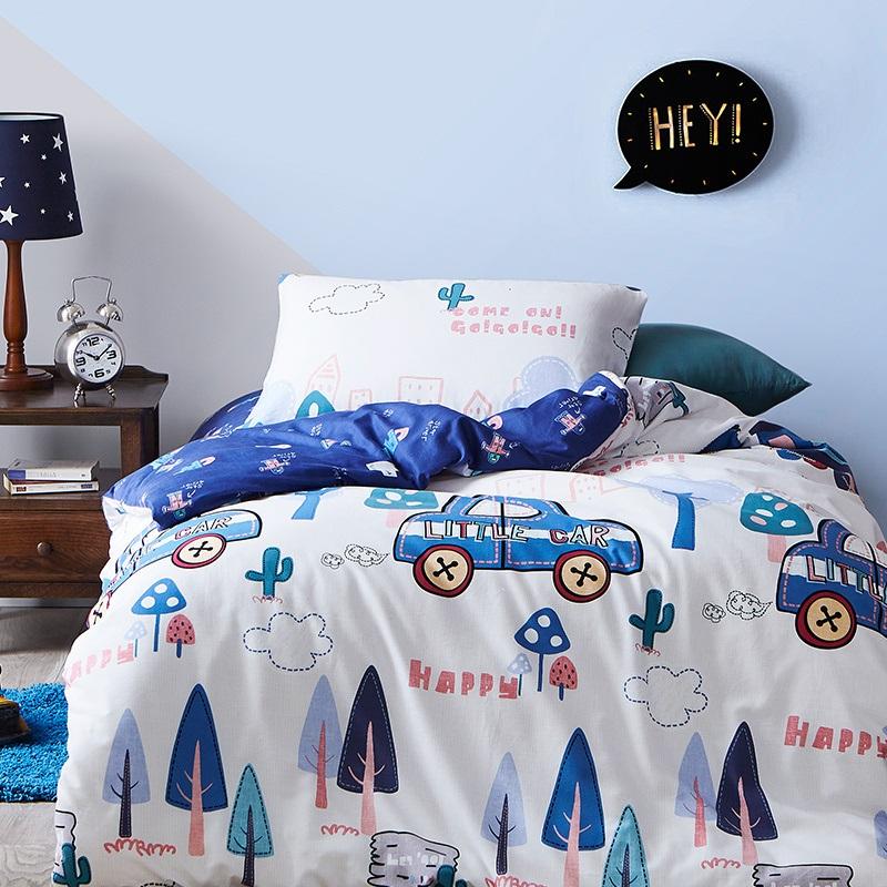网易严选 暖绒印花磨毛儿童三件套AB双面 自由配搭 抑菌保湿 呵护睡眠