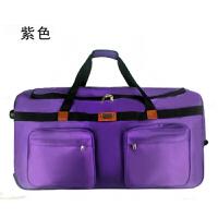 拉杆箱大容量28寸32寸40寸旅行箱软牛津帆布男学生行李箱托运包可商务