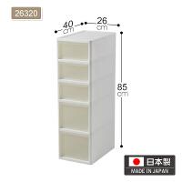 20190814211518329日本进口JEJ夹缝收纳柜塑料浴室抽屉柜客厅零食储物柜窄柜可移动 1个