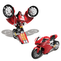 【当当自营】美致仿真1:10遥控变形杜卡迪摩托车模型儿童电动遥控玩具车2830S