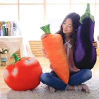 ��意水果蔬菜抱枕公仔三合一毛毯手捂毛�q玩具�和��生日�Y物女生