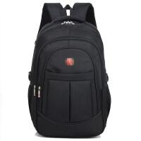 ?双肩包男商务电脑包男士休闲大容量旅行包女高中学生书包防水背包?
