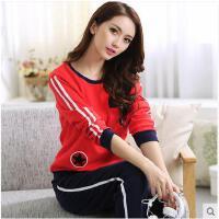 可外穿家居服睡衣少女长袖棉质可外穿家居服运动套装常规韩版大码