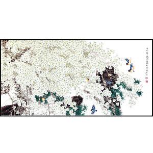 中国美术家协会会员 周彦生 《花鸟》JXFT694