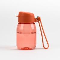特百惠新品 嘟嘟企鹅杯350ML随手杯便携防漏迷你学生儿童塑料水杯 鲜明橙