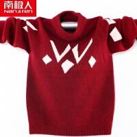 男童毛衣套头 秋款儿童纯羊毛衫中大童加厚针织衫童装