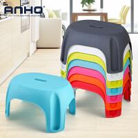 ANHO家用塑料矮凳凳子加厚防滑客厅卧室餐桌茶几小板凳椅子儿童成人