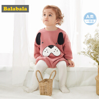 巴拉巴拉女童秋装套装婴儿衣服0-1岁女宝宝两件套2019新款可爱棉