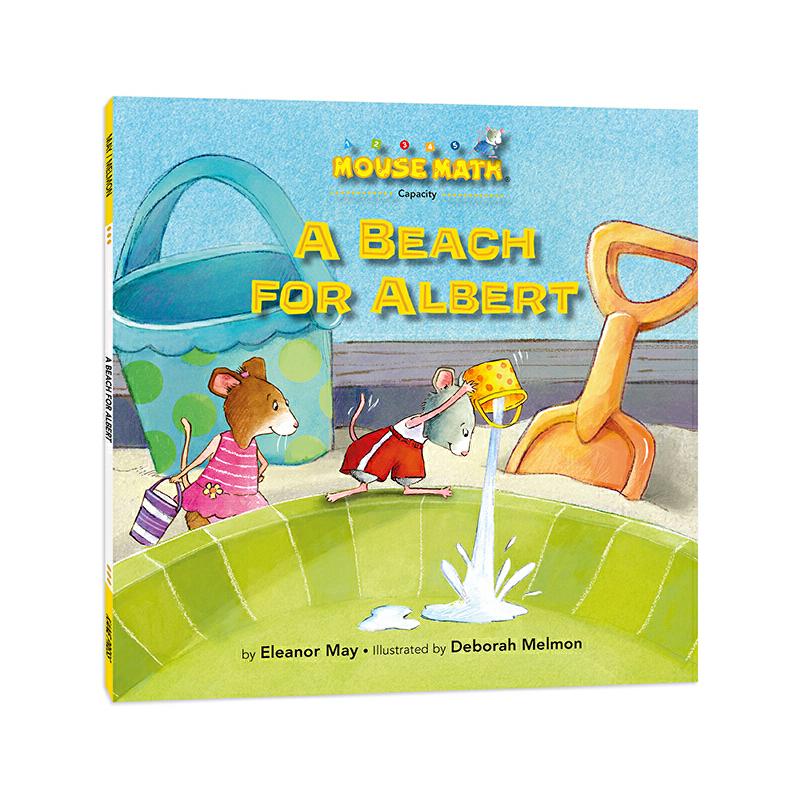 鼠小弟爱数学:大家来灌水 Mouse Math : A Beach for Albert 英语原版绘本,数学启蒙绘本,美国《出版人周刊》《学校图书馆杂志》、大学数学教授高度评价,把数学概念融入有趣故事,让孩子轻松愉快学数学,为小学数学打基础,积累生活及数学相关英语词汇