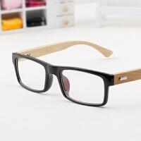 竹木眼镜防蓝光抗疲劳平光眼镜方框 男女电脑镜护目