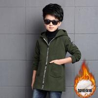 童装男童装外套2017新款韩版休闲中大童春秋季儿童加绒加厚呢子