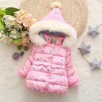 女童女宝宝棉袄1装季2衣服婴儿童装3岁半4小女孩连帽棉衣