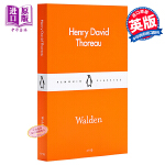 【中商原版】口袋经典:瓦尔登湖 英文原版文学小说 Walden Pocket Penguins Henry Thore