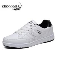 鳄鱼恤休闲鞋系带板鞋低帮鞋百搭小白鞋潮流时尚男鞋