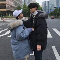情侣装棉衣冬季面包服女中长款宽松bf风冬装外套2018新款韩版
