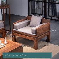 20190402162604404新中式罗汉床榻三件套现代简约禅意家具老榆木实木沙发床客厅组合 拙朴禅椅 1.2米以下