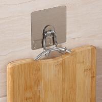 双庆无痕厨房挂钩吸盘免打孔创意门后挂衣架壁挂墙上免钉砧板粘钩