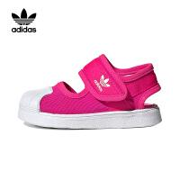 【4折�r:159.6元】阿迪�_斯(adidas)童鞋2020男女童��ゎ^三�~草�和�休�e�\��鲂�EG5712 紫粉色