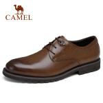 camel骆驼男鞋 2018秋季新款男士商务休闲皮鞋系带办公皮鞋通勤皮鞋
