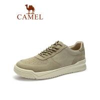 camel骆驼男鞋冬季鞋子男潮鞋2019春新款休闲运动鞋复古百搭牛反绒板鞋