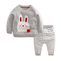 秋宝宝毛衣套装 0-1-2岁女童针织开衫卡通线衣 婴儿针织衫外套