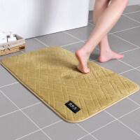记忆棉吸水地垫浴室卫生间门口防滑脚垫厨房进门门垫卧室床边 60×90cm【加大款 加厚品质】