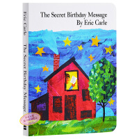【中商原版】艾瑞卡尔 神秘的生日信息 英文原版 Secret Birthday Message 异形纸板书 名家绘本