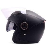 野马619-1冬季电动车头盔女四季通用男士摩托车安全帽半覆式双镜片