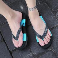 时尚人字拖男士个性外穿夏季沙滩鞋子夏天室外防滑凉拖鞋男潮时尚软底