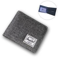 帆布钱包男女大学生潮牌横款短款零钱包相片位全卡钱包