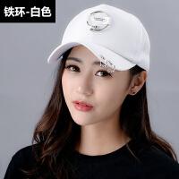 帽子女韩版夏天鸭舌帽太阳帽情侣印花棒球帽户外出游遮阳帽潮