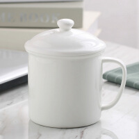 会议茶杯陶瓷杯子骨马克杯水杯咖啡杯办公室杯奶杯logo定做接待用茶杯