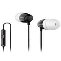 EDIFIER漫步者 K210电脑耳机双插头入耳式游戏耳麦酷黑